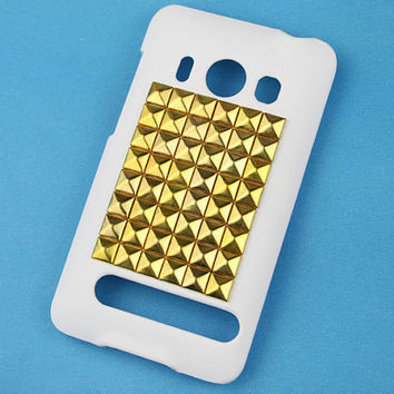 HTC EVO 4G A9292  Hard Case With Golden  Studs for Samsung Galaxy S II S 2