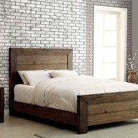 Braddy Transitional Eastern-King Size Bed in Natural