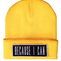 Because I Can Beanie YLW
