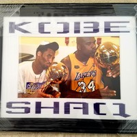 shaquille o neal kobe bryant autographed photo  number 1