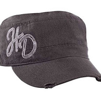 Harley-Davidson Women's Painter's Cap, H-D Script, Charcoal Washed Hat PC36154