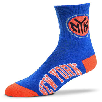 New York Knicks For Bare Feet Ankle TC 501 Socks | lids.com