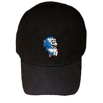 100% Black Cotton Adjustable Hat - 'Monic the Plumber' Video Game Parody