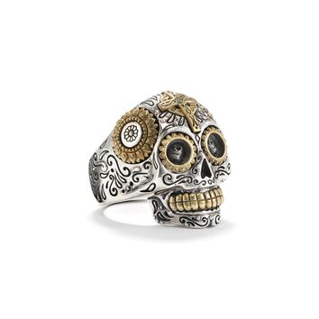 Calavera Sugar Skull Ring