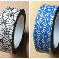 Fan pattern Washi Tape Full Roll WT325 11 yards
