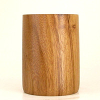 Wooden Pencil Cup Handcrafted in Hububalli