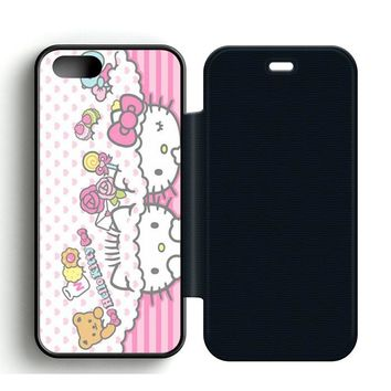 Cute Kitty Leather Wallet Flip Case iPhone 5 | 5S