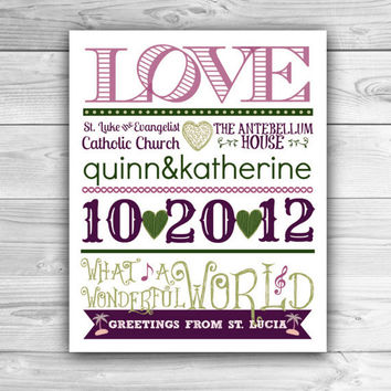 Custom Newlywed Typography - Graphic Print - Wall Art