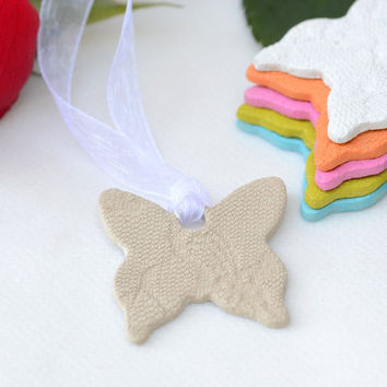 Butterfly Shower Favor – Ceramic Butterfly Lace Favor Party Decoration for a Bridal Shower, Baby Shower and Wedding Favor