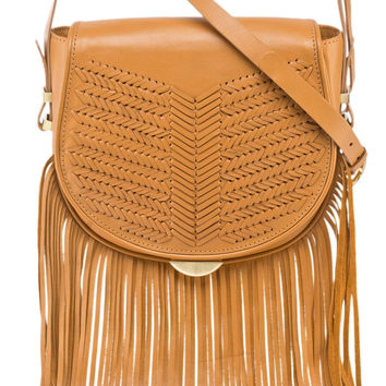 Sancia Babylon bar bag with fringe in tan