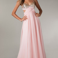 Long Sweetheart Open Back Dress
