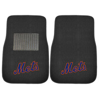 New York Mets MLB 2-pc Embroidered Car Mat Set