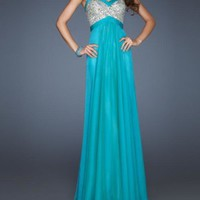 Gorgeous A-Line Peaches Evening dresses/prom dresses