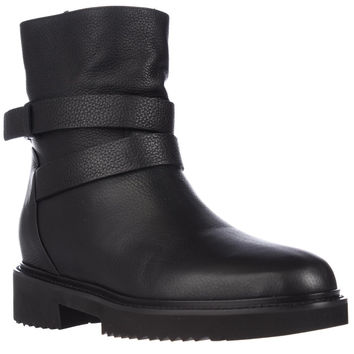 Vince Cagney Motorcycle Boots - Black Leather