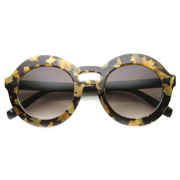 Women's Fashion Round Bold Frame Sunglasses 9857