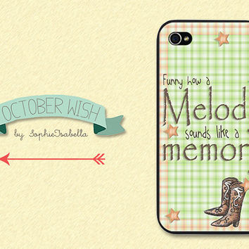 Funny How a Melody iPhone 4/4S/5 Case by OctoberWish on Etsy