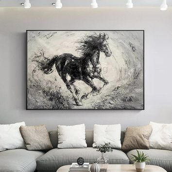 Original horse Abstract Animal Painting acrylic painting on canvas Palette knife oil painting Wall Pictures Home Decor cuadros abstractos