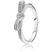 Authentic Pandora Jewelry - Sparkling Bow Ring Clear CZ