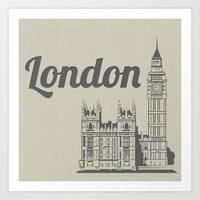London Art Print by 16floor
