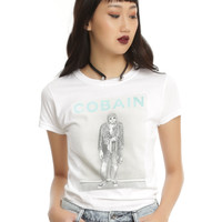 Kurt Cobain Leopard Jacket Girls T-Shirt
