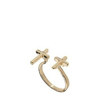 ASOS Open Band Double Cross Ring at asos.com