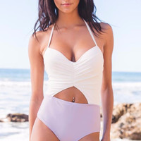 Cupshe Contrast Color One-piece Swimsuit