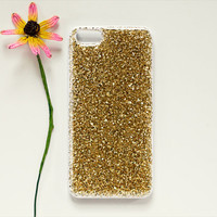 """glitter iPhone 4 / 4s / 5 / 5s case // resin coated gold or silver // """"DRUZY"""""""