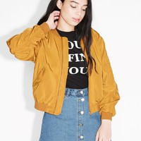 Monki | View all new | Ruched seam bomber jacket