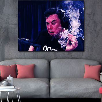 Smoking With Rogan Canvas Wall Art, Musk