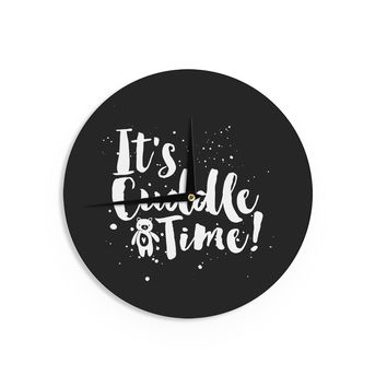 "Nick Atkinson ""Cuddle Time"" Black WhiteWall Clock"