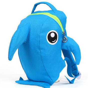 Fashion Lovely Cartoon Children Backpacks Back To School For Boy Girl Shark Doll Patten Kindergardon Bags Mix Colors