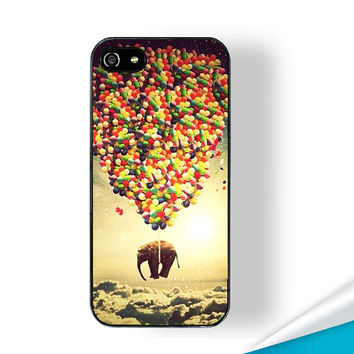Up elephant - iphone 4 case, iphone 5 case, hard case cover for iphone case or custom order