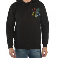 Harry Potter Hogwarts House Shield Adult Zip-up Hoodie