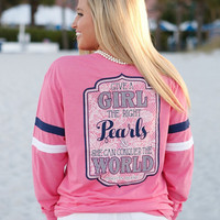 The Right Pearls Long Sleeve Tee | Jadelynn Brooke