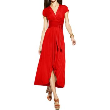 MICHAEL Michael Kors Womens Maxi Hi-Low Casual Dress