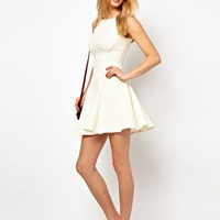 Closet Waffle Jersey Fit and Flare Dress at asos.com