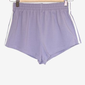 Lavender Side Stripe Shorts