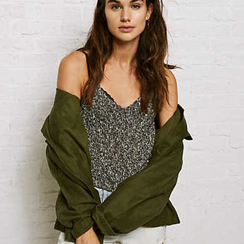 Don't Ask Why Racerback Sweater Tank, Olive