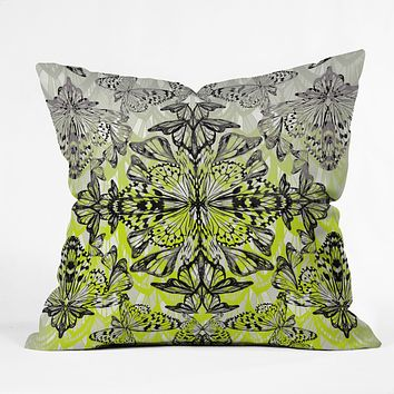 Pattern State Butterfly Tail Throw Pillow