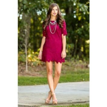 Your Sweet Smile Dress-Wine