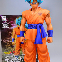 BANPRESTO MSP Dragon Ball Z Son Goku Figure Super Saiyan God Blue Hair Goku 25CM Dragon Ball Collectible Model Toy Doll Figuras