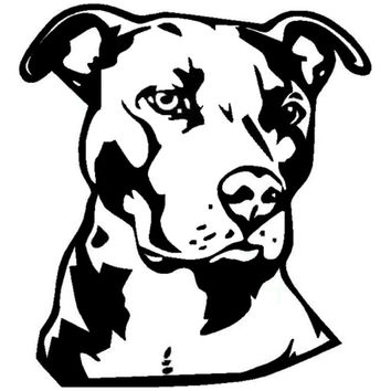 14*15.2CM Pit Bull Face Vinyl Decal Car Styling Animal Decoration Accessories Classic Personality Stickers C6-1740