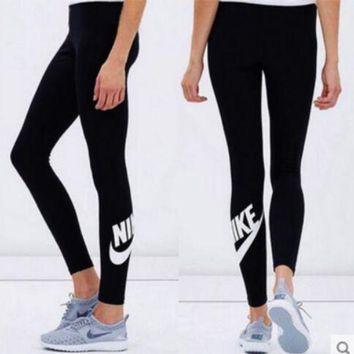 Gotopfashion NIKE Print Sport Stretch Pants Fitness yoga Trousers Sweatpants