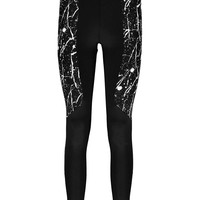 Lucie Splatter Panel Sports Leggings