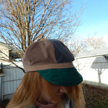 NewsBoy Hat, News Boy Cap, All Patchwork corduroy hat,Newsboy Cap, Hippie Hat, Festival Hat, Patchwork Hat, hippie cap, hat, cabbie hat