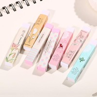 VONC1Y 1 Pcs Color Cartoon Long Rubber Eraser Creative Student Stationery Office School Supplies Papelaria Gift For Kids