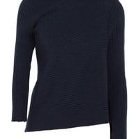 Marques' Almeida - Asymmetric ribbed merino wool turtleneck sweater