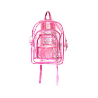 90s CLEAR Mesh pvc Plastic School Bag tote CYBER Backpack