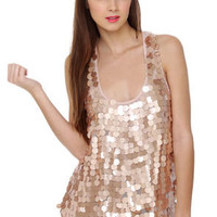 Tiny Bubbles Pink Sequin Top