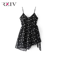 RZIV 2017 summer female jumpsuit casual color star print harness shorts jumpsuit